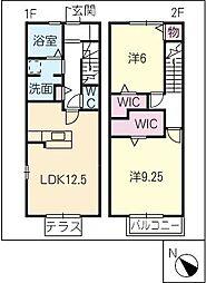 [タウンハウス] 三重県鈴鹿市稲生塩屋2丁目 の賃貸【/】の間取り