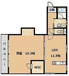 ジュネスTomachi[2階]の間取り