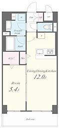 JR東海道・山陽本線 六甲道駅 徒歩3分の賃貸マンション 6階1LDKの間取り