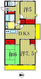第2東マンション[405号室]の間取り