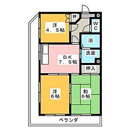 平松ビル[4階]の間取り
