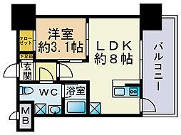 ドゥーエ赤坂[7階]の間取り