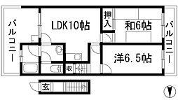 [テラスハウス] 兵庫県宝塚市逆瀬台6丁目 の賃貸【/】の間取り