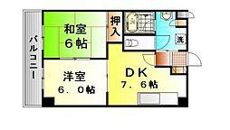 横濱モンテローザ[2階]の間取り