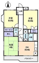 第一フラワーマンション[1階]の間取り