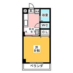 アイビス山崎[2階]の間取り