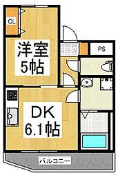 仮)東大和市南街6丁目新築アパート[2階]の間取り