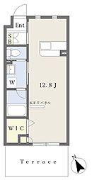 A−style Muromi 1階ワンルームの間取り