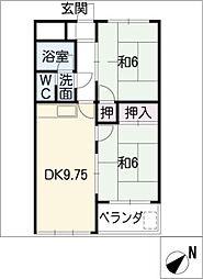 ドミール有松[2階]の間取り