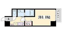 エクセル神戸アーバンヒルズ 9階1Kの間取り