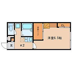 近鉄奈良線 近鉄奈良駅 バス9分 萩ヶ丘町下車 徒歩3分の賃貸アパート 1階1Kの間取り
