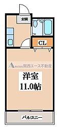 グリーンハウス天王寺[4階]の間取り