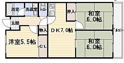 コートロイヤル[1階]の間取り