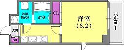 カリエンテ三宮[4階]の間取り