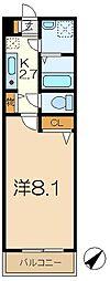 テラス桐ヶ谷[1階]の間取り