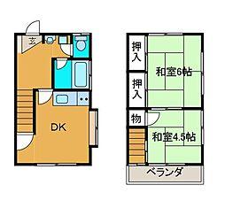 [テラスハウス] 神奈川県相模原市南区上鶴間2丁目 の賃貸【/】の間取り