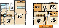 [一戸建] 兵庫県神戸市西区小山1丁目 の賃貸【/】の間取り