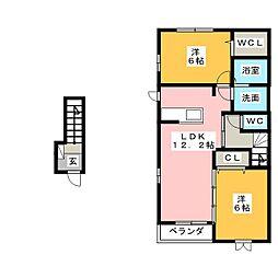 ラウレアIII[2階]の間取り