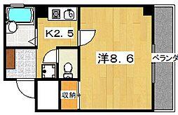 タウンコート中宮[3階]の間取り
