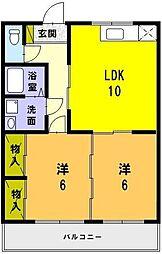 カルチェGP (YJ)[2階]の間取り