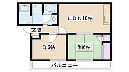 ディアライフミシマ[2階]の間取り