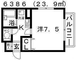 オーシャン藤ヶ丘[305号室号室]の間取り