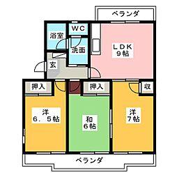 レジデンスタカオカ[2階]の間取り