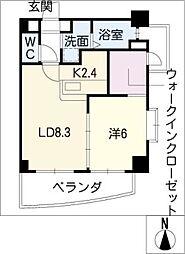山八第七ビル[6階]の間取り