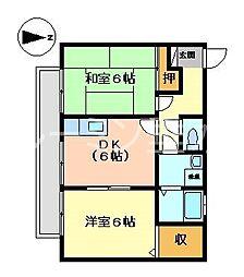 ニューセジュール西舞子[2階]の間取り
