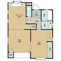 TOMORROW HOUSE[W101号室]の間取り