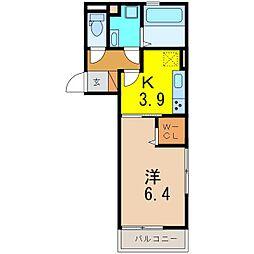 仮)D−room知立池端1丁目[2011号室]の間取り