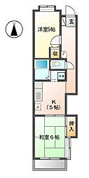 モンシャトー清水 11a[1階]の間取り
