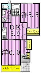カーサボニートI[103号室]の間取り