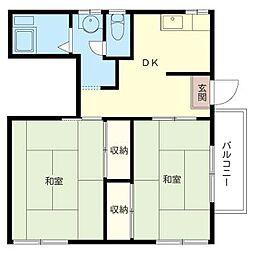 川端邸[2階]の間取り