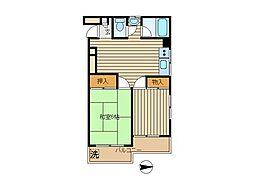 東京都新宿区中落合2丁目の賃貸マンションの間取り