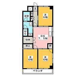 大木マンション[3階]の間取り