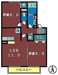 ソレーユ津田沼[101号室]の間取り