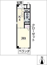 ハイツオレンジB[3階]の間取り