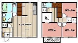 [一戸建] 福岡県北九州市八幡東区西本町1丁目 の賃貸【/】の間取り