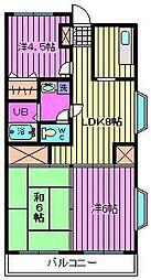 グリーンハイツ6[3階]の間取り