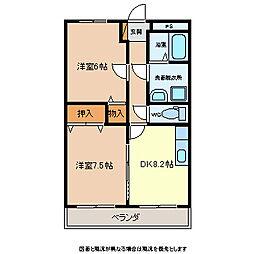 グランディール軽井沢[2階]の間取り