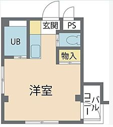 東京都八王子市別所1丁目の賃貸アパートの間取り