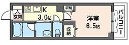 JR京浜東北・根岸線 南浦和駅 徒歩4分の賃貸マンション 3階1Kの間取り