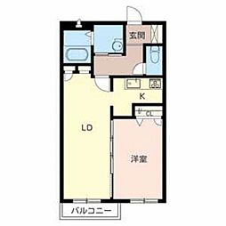 サウスタウン蔵家[1階]の間取り