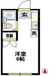 コーポ二葉台町[1階]の間取り