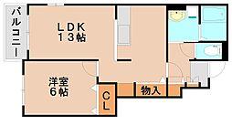クレア弥生弐番館[1階]の間取り