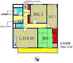 フォーディーバーMS[3階]の間取り