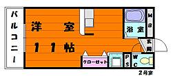 BEN松崎壱番館[2階]の間取り