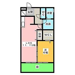 サンシャイン−ビレッジ[1階]の間取り