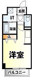 仙台市営南北線 北四番丁駅 徒歩24分の賃貸マンション 2階ワンルームの間取り